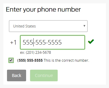 Enter your phone number