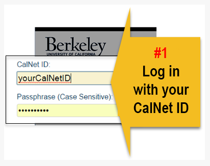 Log in with CalNet