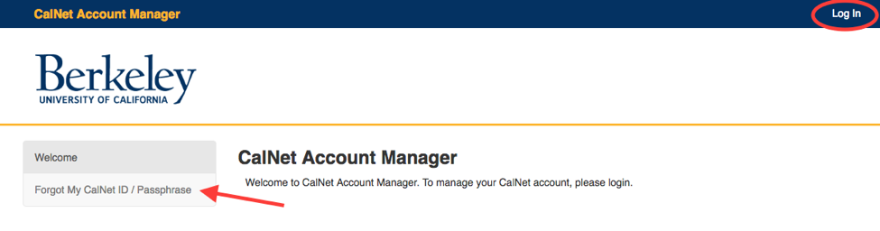 Manage My CalNet Account | CalNet - Identity and Access Management