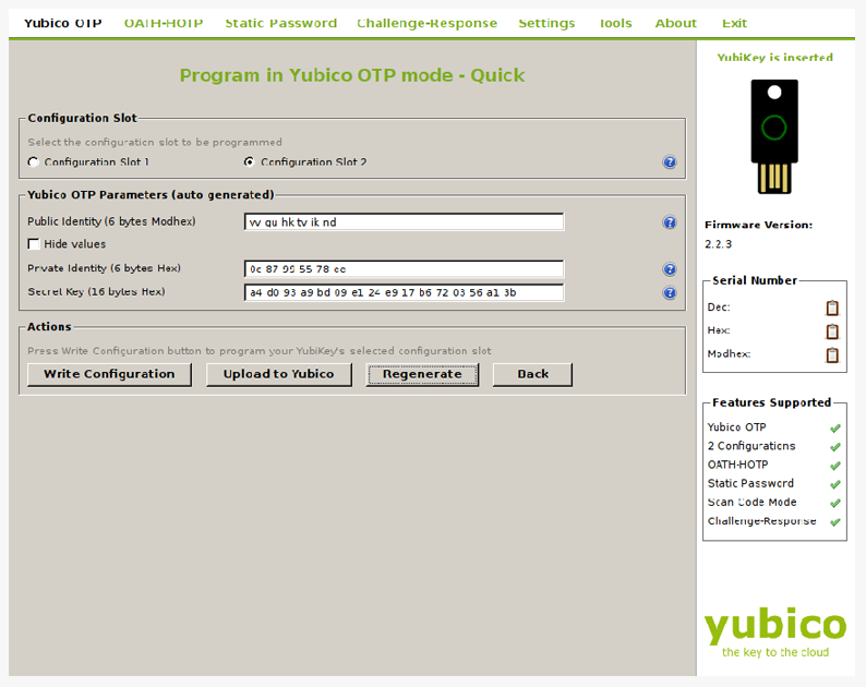 Yubico screenshot