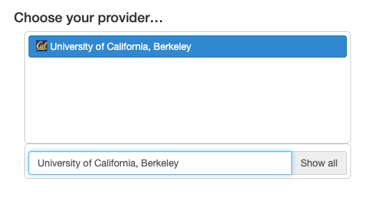 Choose Provider