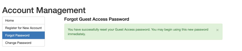 Alternative Login Reset Password Confirmation