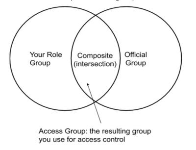 """""""Composite"""" is the intersection between venn diagram of """"your role group"""" and """"official group"""""""