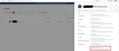 LastPass Admin Master Password Reset